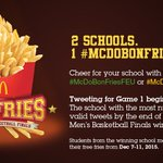 There can only be one #McDoBonFries winner. Will it be FEU or UST? See you at the FRYnals! https://t.co/wf02A1XZv4