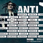 Do you know already which shows are you planning to attend? #ANTIWorldTour https://t.co/rLF55F96ux