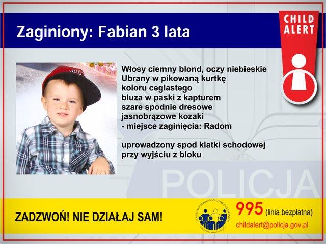 Policja uruchomiła #childalert Poszukiwany 3-letni Fabian https://t.co/AH5ebYxid2