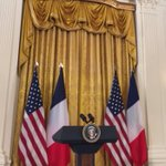 Scene set at the White House for the Obama-Hollande press conference https://t.co/oGcCNXQwTf