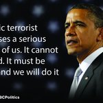 """Pres. Obama on ISIS: """"It cannot be tolerated. It must be destroyed and we will do it together."""" https://t.co/6XqPCU7wdE"""