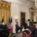 Standing with President Hollande, @POTUS expresses total solidarity with the people of France. https://t.co/U7d5rDPz4T