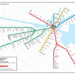 Cool map of the T based on expected travel time. #Boston #MBTA @universalhub @theurbanologist @LifeontheMBTA https://t.co/4c1JSVLyGc