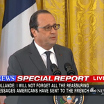 French Pres. Hollande says he & Pres. Obama will scale up strikes in Syria, Iraq & strengthen intelligence sharing. https://t.co/lMp8ozdheT