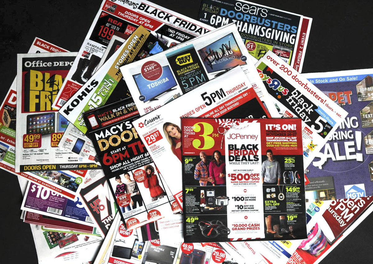 Early Black Friday ads at Fort Wayne Newspapers, 600 W. Main St., 11 a.m.-6 p.m. tomorrow, $2.50. Don't miss out! https://t.co/BkamXr64WT