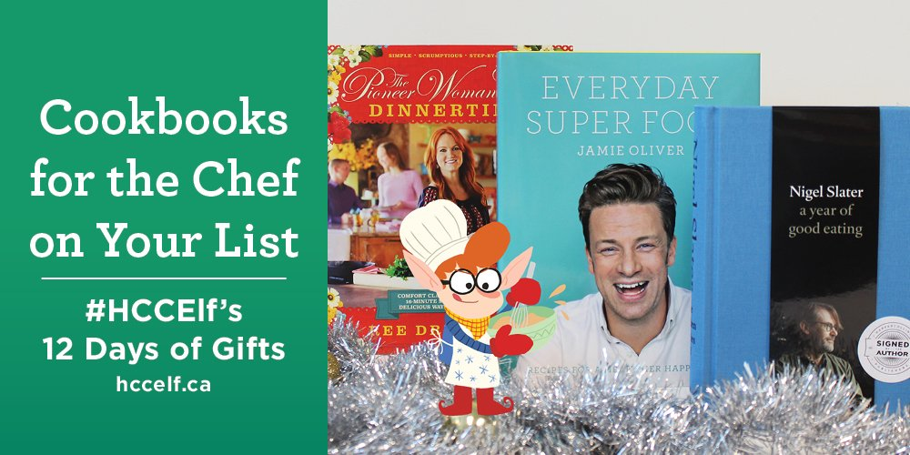 Today the #HCCElf is giving away 3 cookbooks! RT to enter, Reply for a bonus entry. https://t.co/xSmiEVezgR https://t.co/57vlY6ddve