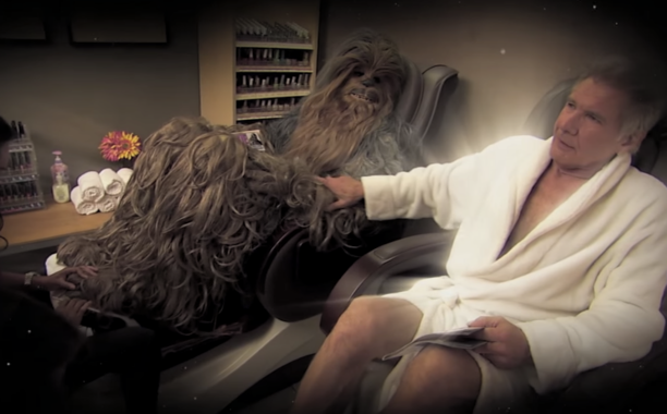 Harrison Ford ends Chewbacca feud with a little help from Adele: