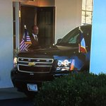 West Wing arrival for French President Hollande. https://t.co/40fWipV4d3