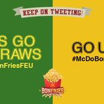 KEEP TWEETING! Take your team to #UAAPSeason78 Game 1 victory with the hashtags #McDoBonFriesFEU or #McDoBonFriesUST https://t.co/It1uDHPUE8