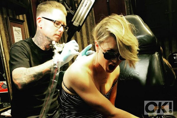 Big Bang Theory's @kaleycuoco has her wedding date tattoo covered: