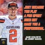 Mark Schlereth on NFL LIVE had strong words on Johnny Manziels behavior. https://t.co/8QZmJuSbWz