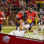 BREAKING: @LibertyFootballs Chima Uzowihe becomes first in program history named Big South Defensive POY! #GoFlames https://t.co/C70z0w8SSa