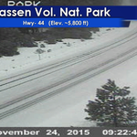 Hwy-44 by the north entrance of Lassen Volcanic National Park is now covered. Currently no chain or snow tire req. https://t.co/BnpfDZqmG2