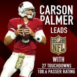 Carson Palmer is having a career year. #FactsOnly https://t.co/2nu00mAATw