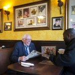 Yup, thats Bernie Sanders sharing a meal with rapper Killer Mike in Atlanta https://t.co/Hk3fVtuWuB https://t.co/toz6jpC5Hr