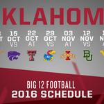 #Big12FB: @OU_Footballs 2016 conference schedule. ???? https://t.co/uy23YH9rEm