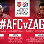 Our Matchday Show is now underway. Tune in for all the news, views and build-up to #AFCvZAG: https://t.co/QlLRJFEe38 https://t.co/dsxksP0sg6