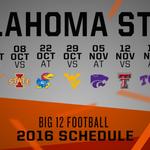 #Big12FB: @CowboyFBs 2016 conference schedule. ???? https://t.co/aQgb2h5O1E
