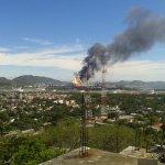 #Fotos y #Video Reportan nueve heridos tras incendio en la refinería de Salina Cruz, #Oaxaca https://t.co/HKETJa4wLy https://t.co/U8XHlp6Oar