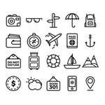 ⬇ Free download: Set of simple travel icons https://t.co/4MpptVNhc7 https://t.co/dl83txC5PN