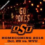 Mark your calendars! #OKState Homecoming 2016 set for Oct. 29 vs. WVU. https://t.co/hkKJcqrGhw #OKStateHC https://t.co/imRx7qYwi8