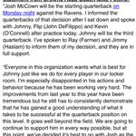 Here are the statements from #Browns coach Mike Pettine on the benching of Johnny Manziel, the new No. 3 QB https://t.co/PvELQOHwAx