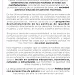 Manifiesto 25N. Sin cambios educativos, económicos, culturales y estructurales no habrá igualdad real. #NiUnaMenos https://t.co/Jgr5Y0lO0z