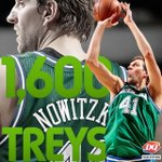 W/@swish41's last trey, he's now 17th player in NBA history w/atleast 1600 career 3's! Congrats Dirk! #txstopsign https://t.co/kcj8uS9MxE
