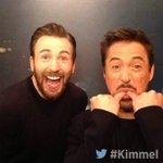 CHRIS EVANS AND ROBERT DOWNEY JR BACKSTAGE! #Kimmel https://t.co/s9PjgAsbpS