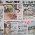 Honda (potholes in Kannada) City : Bengaluru roads become death traps. More craters in the city than on the moon. https://t.co/ejhOebtcUt