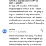 Meanwhile On Android Playstore. ;) #BootOutSnapdeal https://t.co/JEPPd2bchG