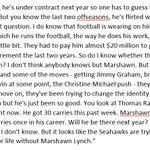 Marshawn Lynchs good pal Michael Robinson on @nflnetwork, about his ex-#Seahawks teammates future. #agree https://t.co/JP7xJ0Gqjw