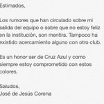 Sobre mi futuro en @Cruz_Azul_FC : https://t.co/1BVaCZqKdl