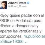 #RiveraEH te recordamos tweet como este. No fue rajoy fuiste tú quien pacto con el @PSOE y blindó la corrupción. https://t.co/ht1C1ZG3tB