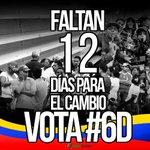 Solo faltan 12 días para el cambio, este #6D ¡todos a votar! https://t.co/rLa5XwqnJl