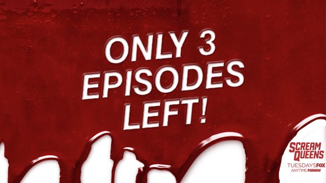 THREE EPISODES LEFT. Meet the Radwells TONIGHT at 9/8c on FOX! #ScreamQueens https://t.co/v0rdcojVH5 https://t.co/mCmnLF0Dft
