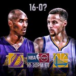 Will 16-0 become reality? Find out if the #WarriorsStreak continues, 10:30pm/et @NBAonTNT! https://t.co/g5BoIAK4cz