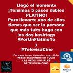 ¡Aquí la dinámica para ganarte uno de los 5 #BoletosPlatino de #PremiosTelehit! #TelevisaCine #PorUnPlatinoYo https://t.co/GpkO3kfdAX