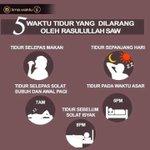 5 waktu tidur yg dilarang oleh Nabi kita. Jom share ilmu ni. Biar ramai yg tahu ???? #TakeNote https://t.co/rmh7zCxhOU