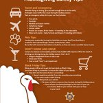 A few things to remember as #Thanksgiving approaches... #TurkeyDay2015 #Safety https://t.co/8x6JDm88Ya