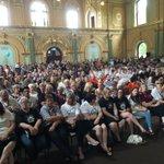 Packed house at #Bendigo town hall for #WhiteRibbonDay walk against violence @BgoAddy https://t.co/rUofpkMDVN