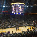 Standing ovation for @jrich23! #DubNation https://t.co/xUhEj5oMGe
