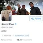 How many of you are still tolerating @aamir_khan ? Please unfollow him to show your Intolerance #AamirInsultsIndia https://t.co/450hW997Pw
