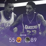 Lakers go cold once again in the third quarter. https://t.co/PDLM19wQNL
