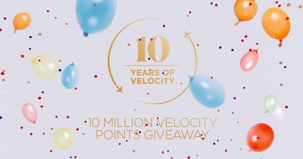 Velocity Frequent Flyer has turned 10 so we�re celebrating by giving away 10 million Points!