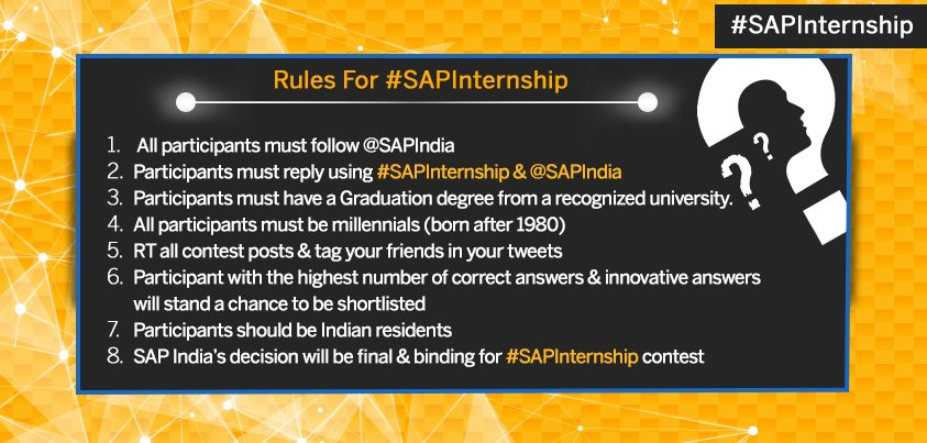 Brush up your marketing knowledge & stay tuned for the quiz. All you need to do is follow these rules #SAPInternship https://t.co/TYAQjSG47N