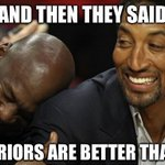MJ and Scottie have something to say about the Warriors 16-0 start: https://t.co/qtDWgdgxhP