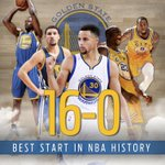 Congratulations to the @warriors! Best start in @NBA history! https://t.co/pqmXIqv84D