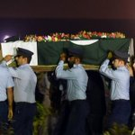 Martyred female Flying Officer Mariaum laid to rest in #Karachi. She was an inspiration for women of Pakistan. #PAF https://t.co/fdkYjJcw0e