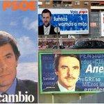 Del «cambio» socialista a Aznar en catalán: los carteles electorales de PP y PSOE https://t.co/jCqkkcMLys https://t.co/76OJFbKalx